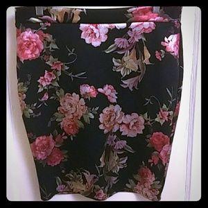 Floral Pencil Skirt - Never Worn